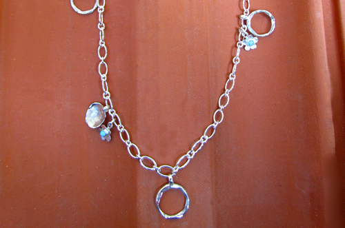 <b>SH111</b> - Sterling silver necklace with various elemnts