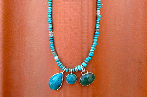 <b>SH116-trq</b> - turquoise necklace